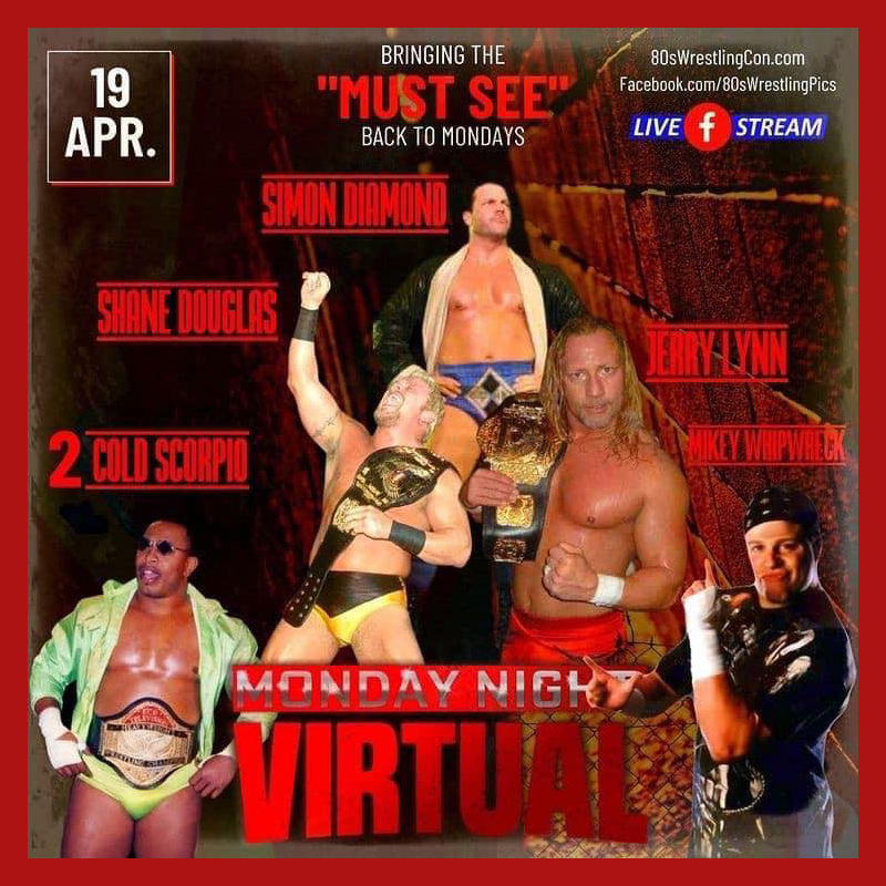 80s wrestling con virtual signing series