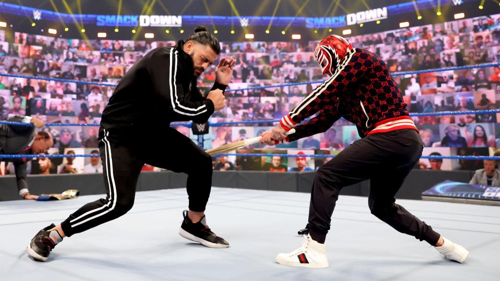 Rey Mysterio and Roman Reigns in WWE