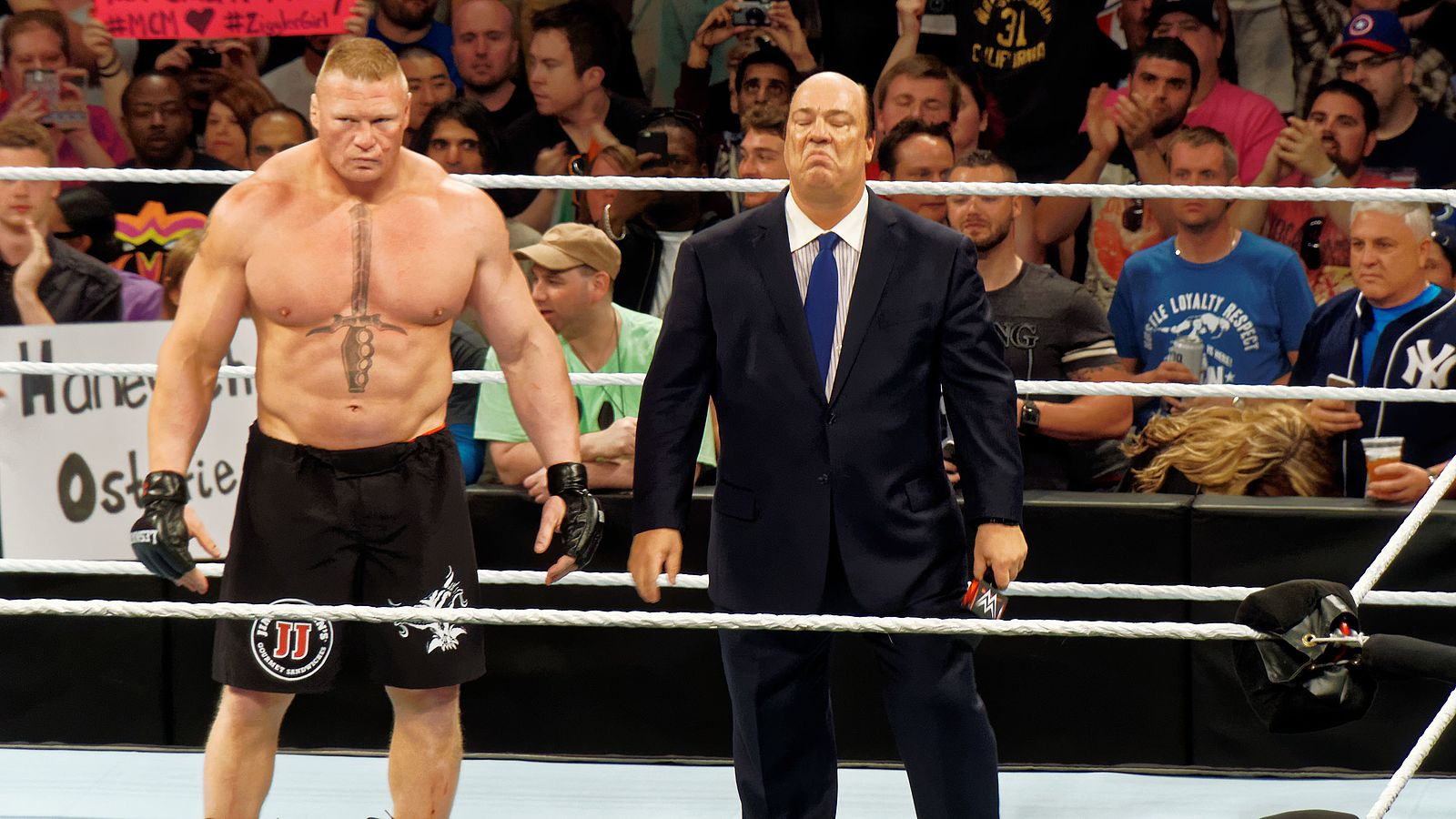 Paul Heyman & Brock Lesnar